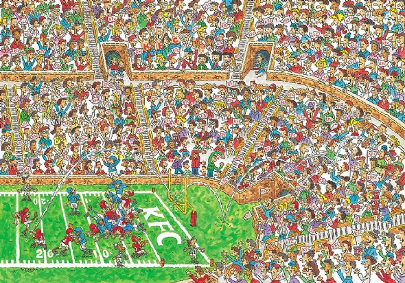 Can you find Waldo? More importantly, can you find Marian Hossa?